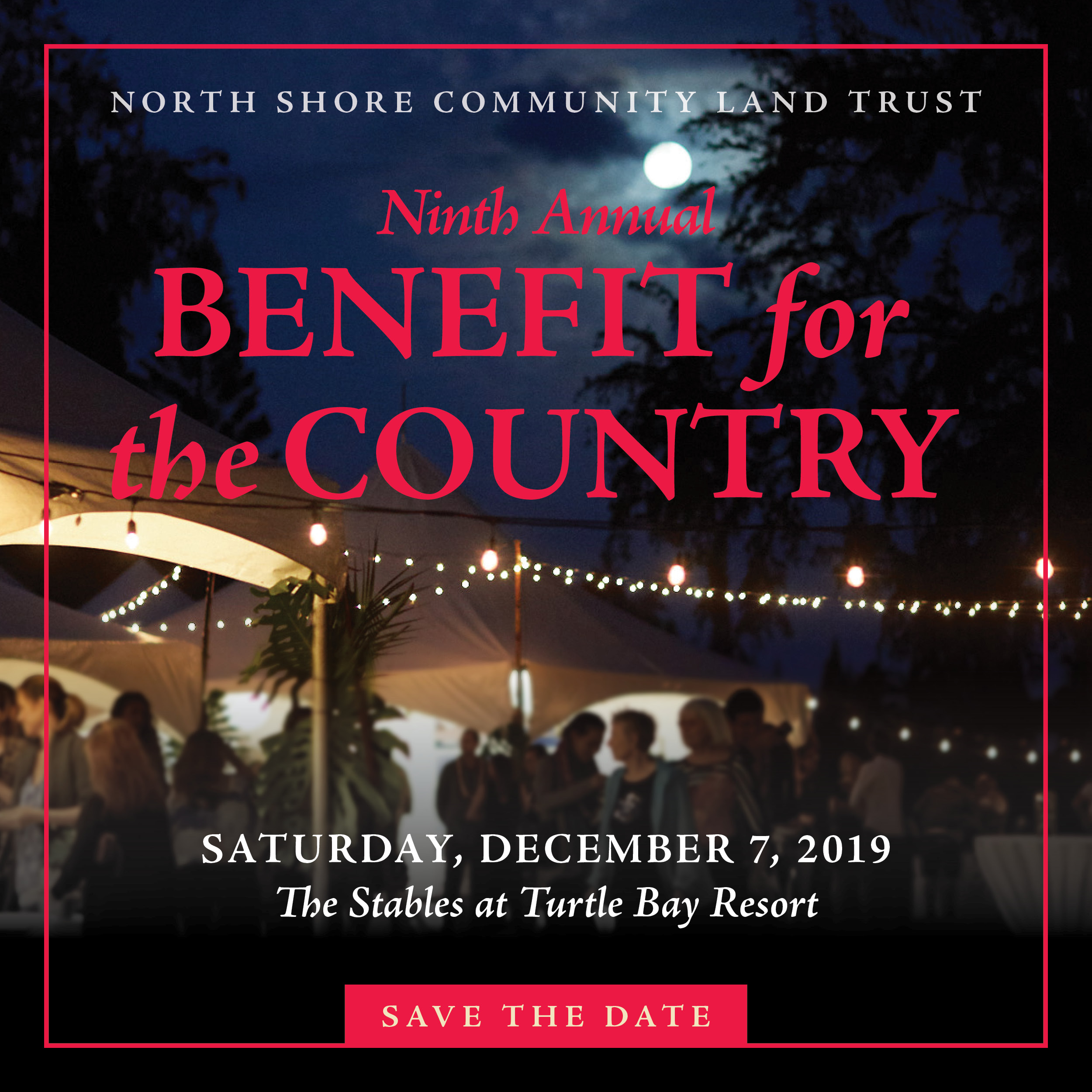Save the date Benefit 2019